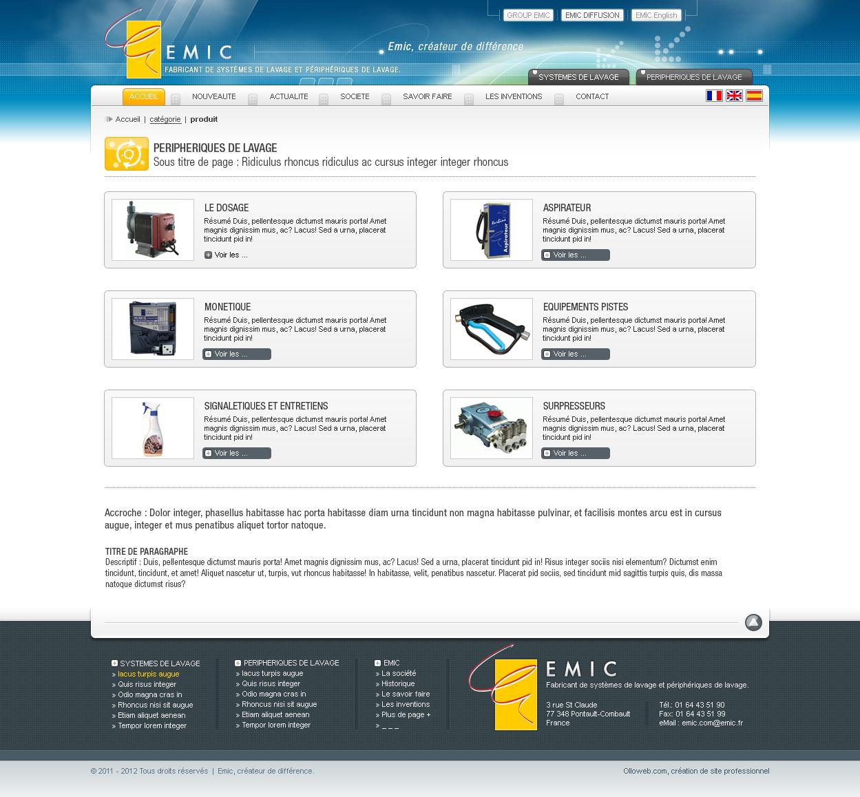 Conception graphique site internet de catalogue