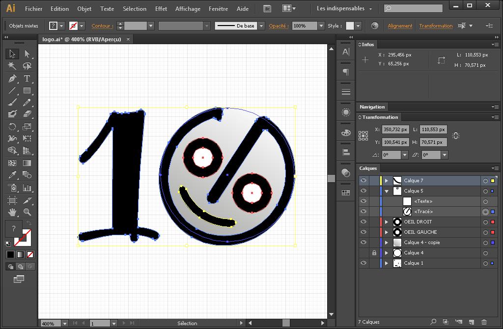 Conception du logo depuis Adobe Illustrator.