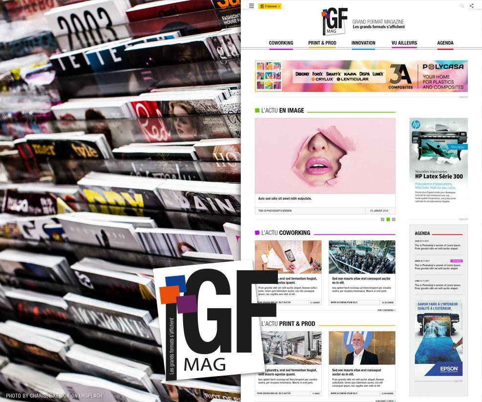 Création de site internet pour un magazine