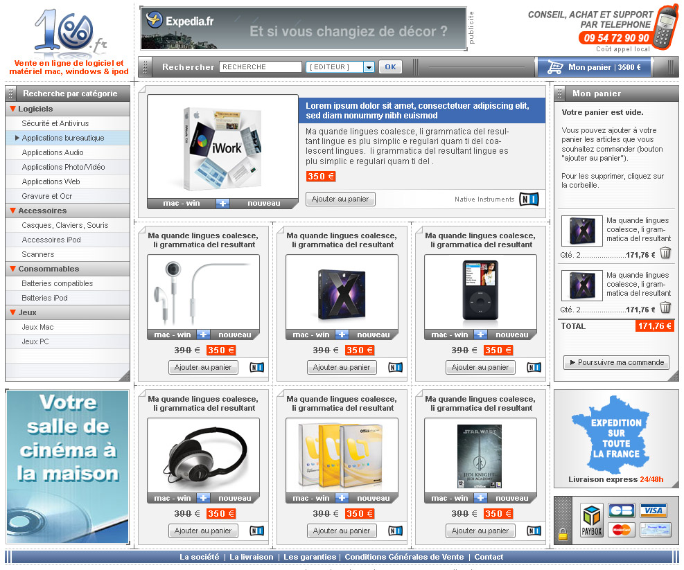 conception dune interface gaphique de site ecommerce de