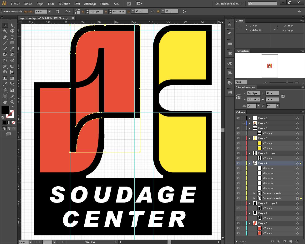 Détail du logo depuis Illustrator.