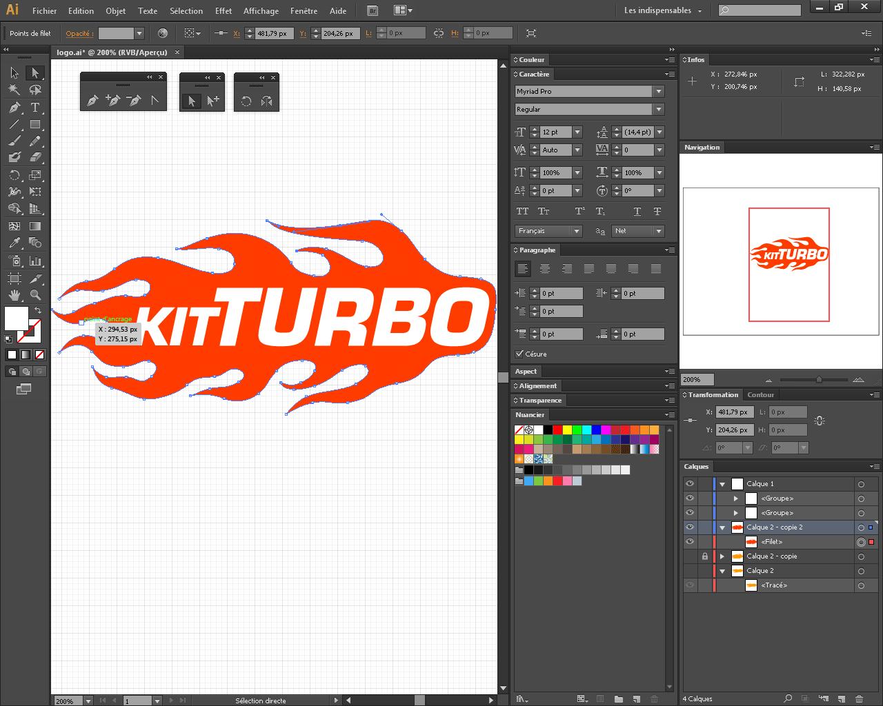 Création du logo Kit Turbo