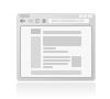 Création de page modèle de mini site internet