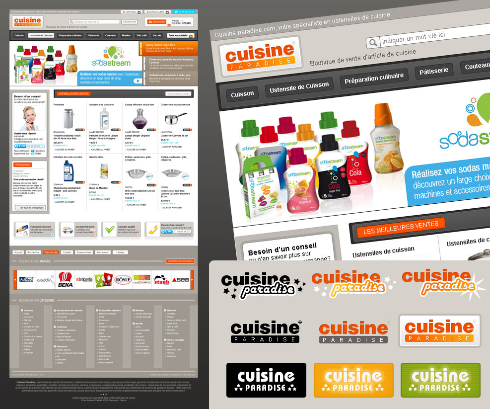 Cr ation de site internet e commerce d 39 article de cuisine - Article de cuisine ...