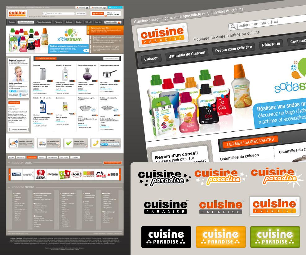 cr ation de site internet e commerce d 39 article de cuisine cr ation de site internet. Black Bedroom Furniture Sets. Home Design Ideas