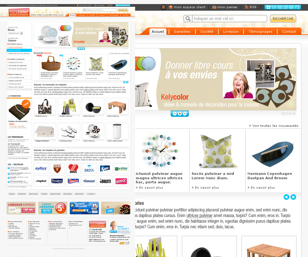 Cr ation de site internet e commerce d 39 article de for Articles de decoration pour la maison