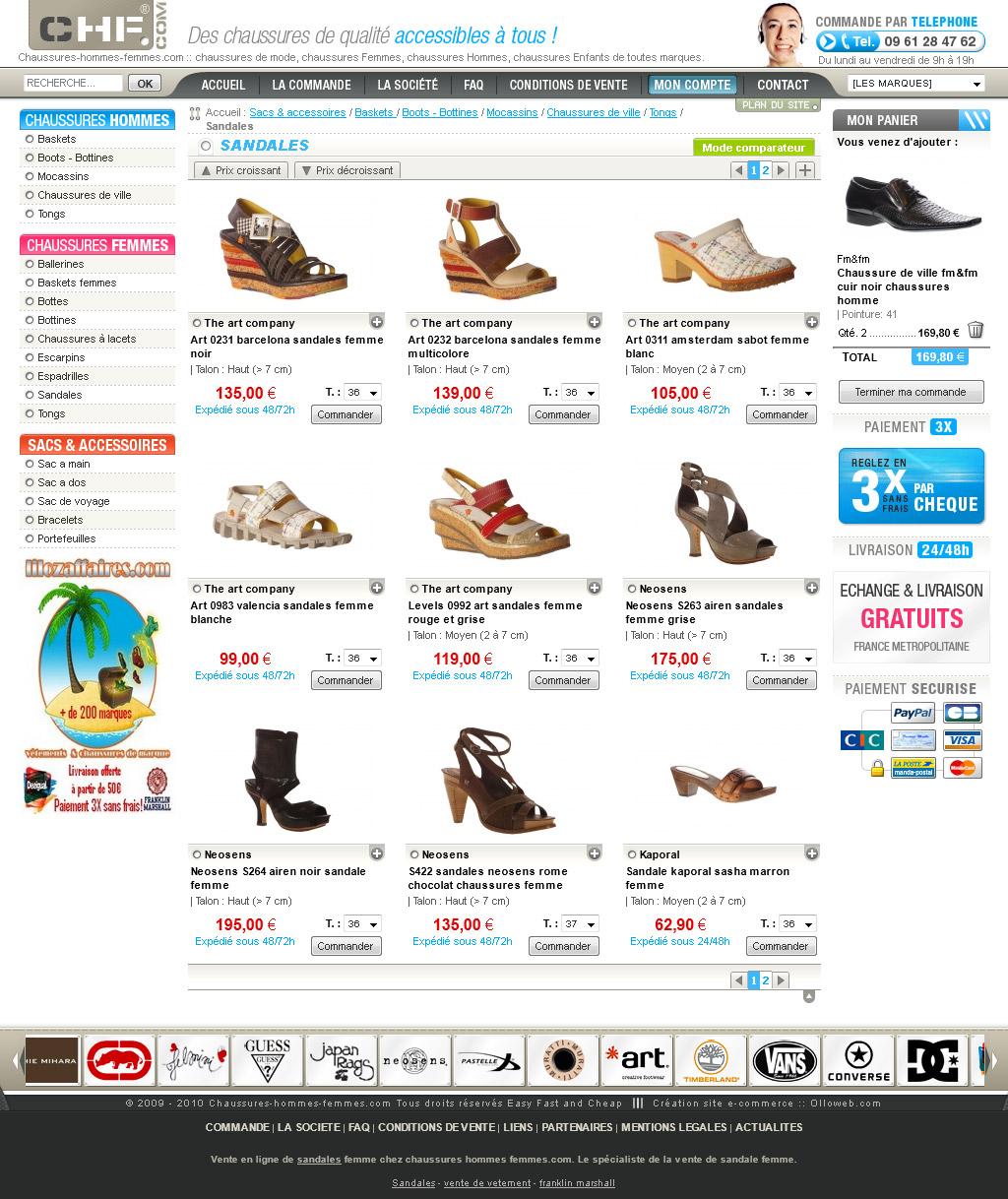 Création de site e-commerce de chaussure. 54082461434f