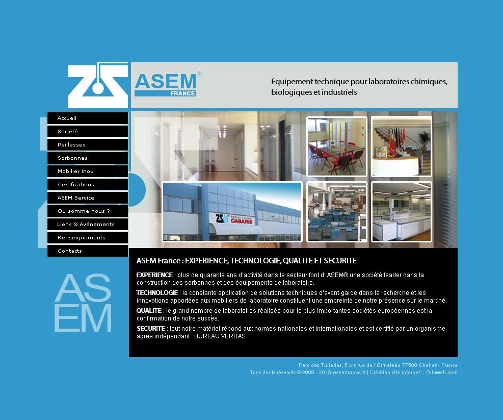 Page la société de l'entreprise Asem France