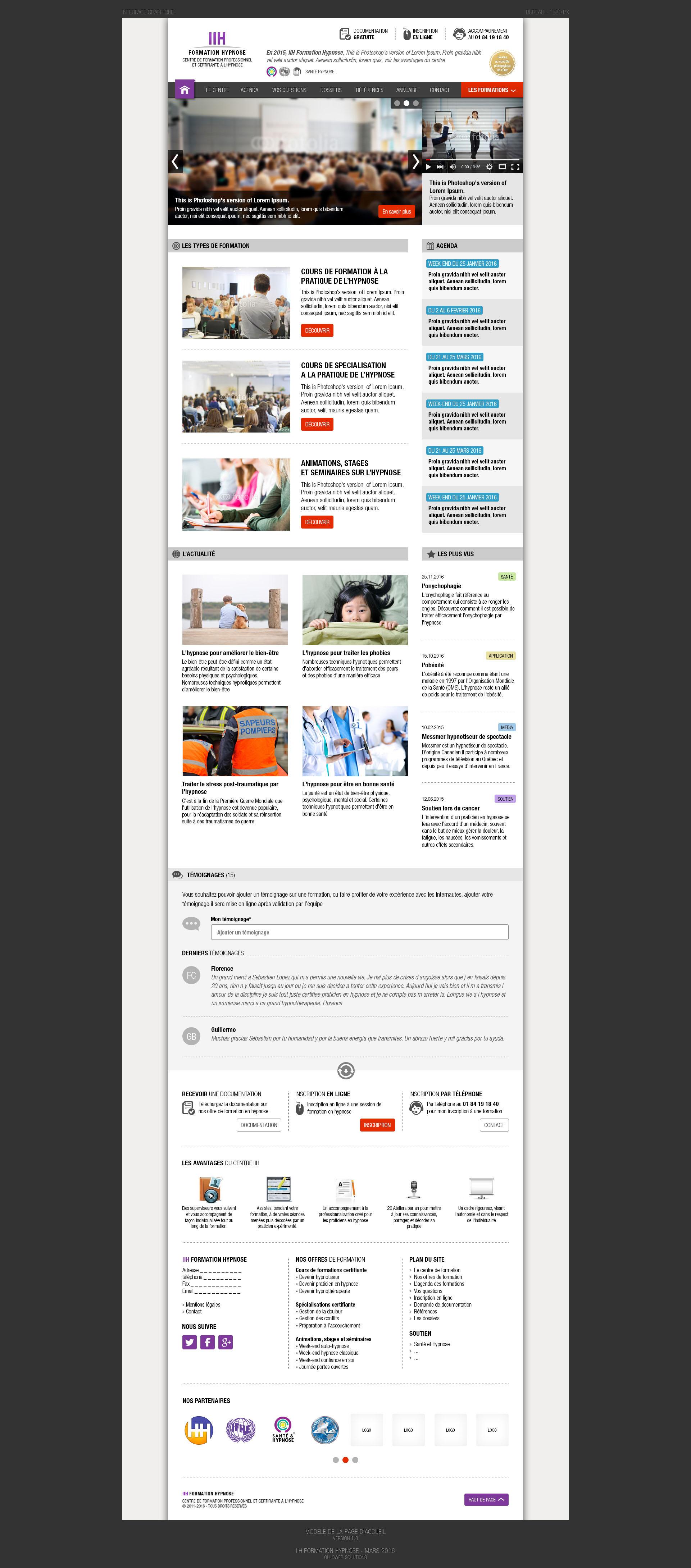 Création de site internet de formation