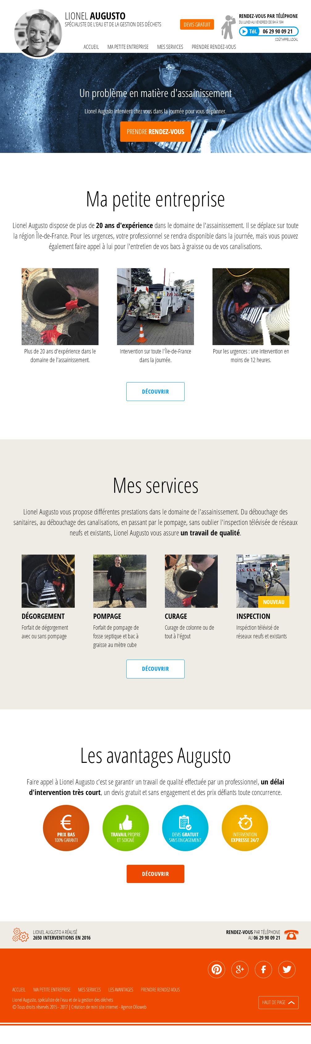 Conception graphique de la page d'accueil