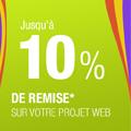 Profitez d'une remise de 10% sur votre projet web !