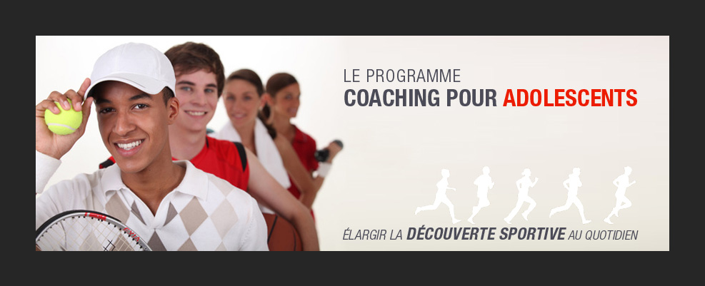 Création graphique et montage photo de coach adolescents
