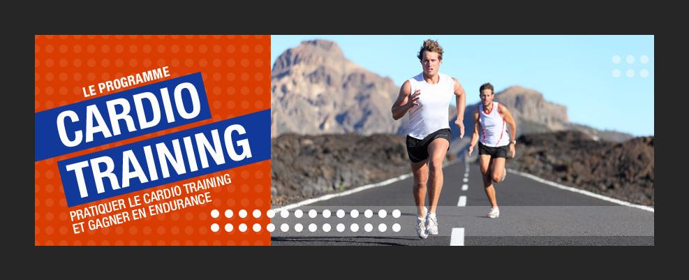 Création graphique et montage photo de programme cardio training