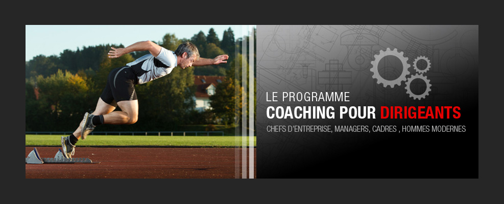 Création graphique et montage photo de coach dirigeant