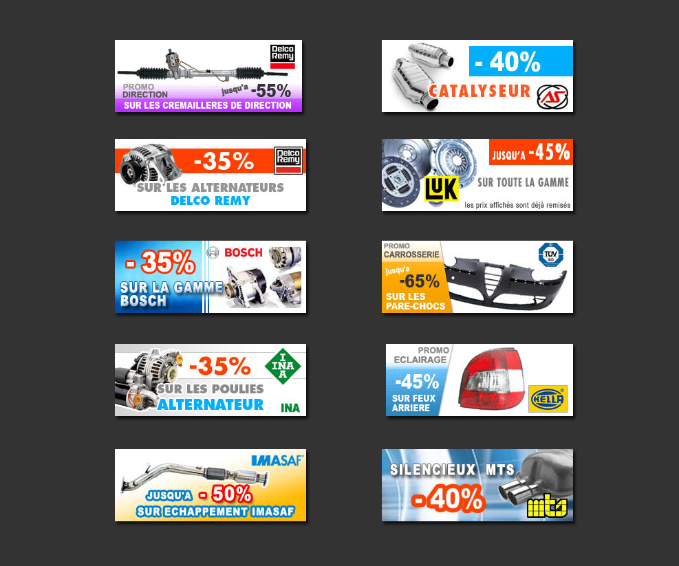 Création de visuels pour la page d'accueil du site automobile