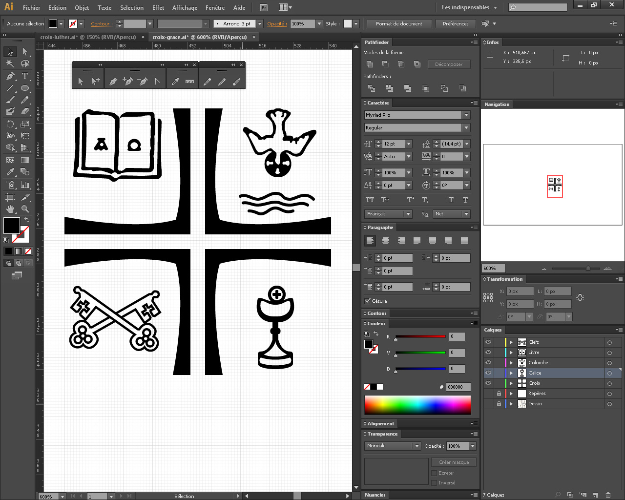 Reprise de la croix depuis Adobe Illustrator