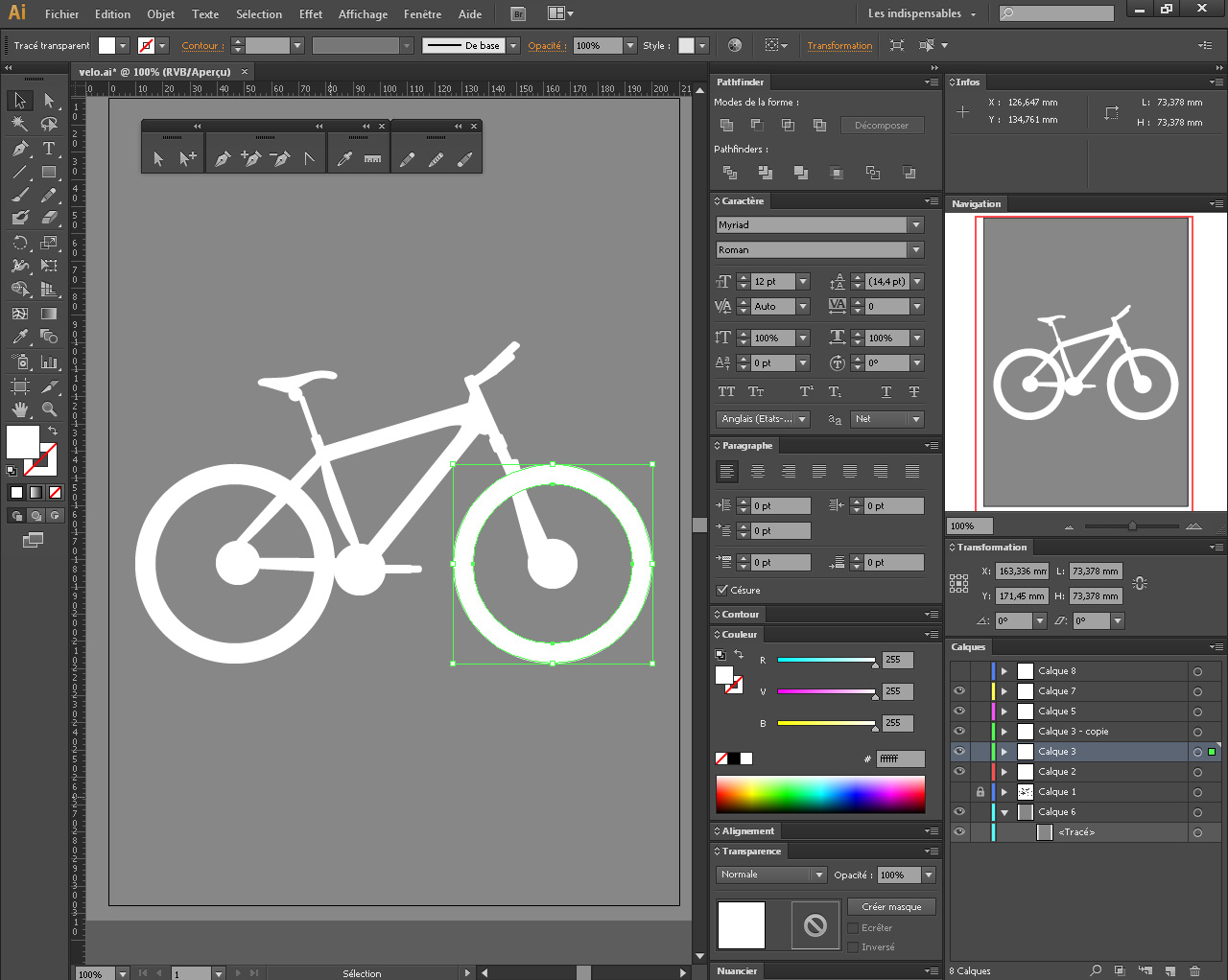 Création d'un vélo depuis Illustrator