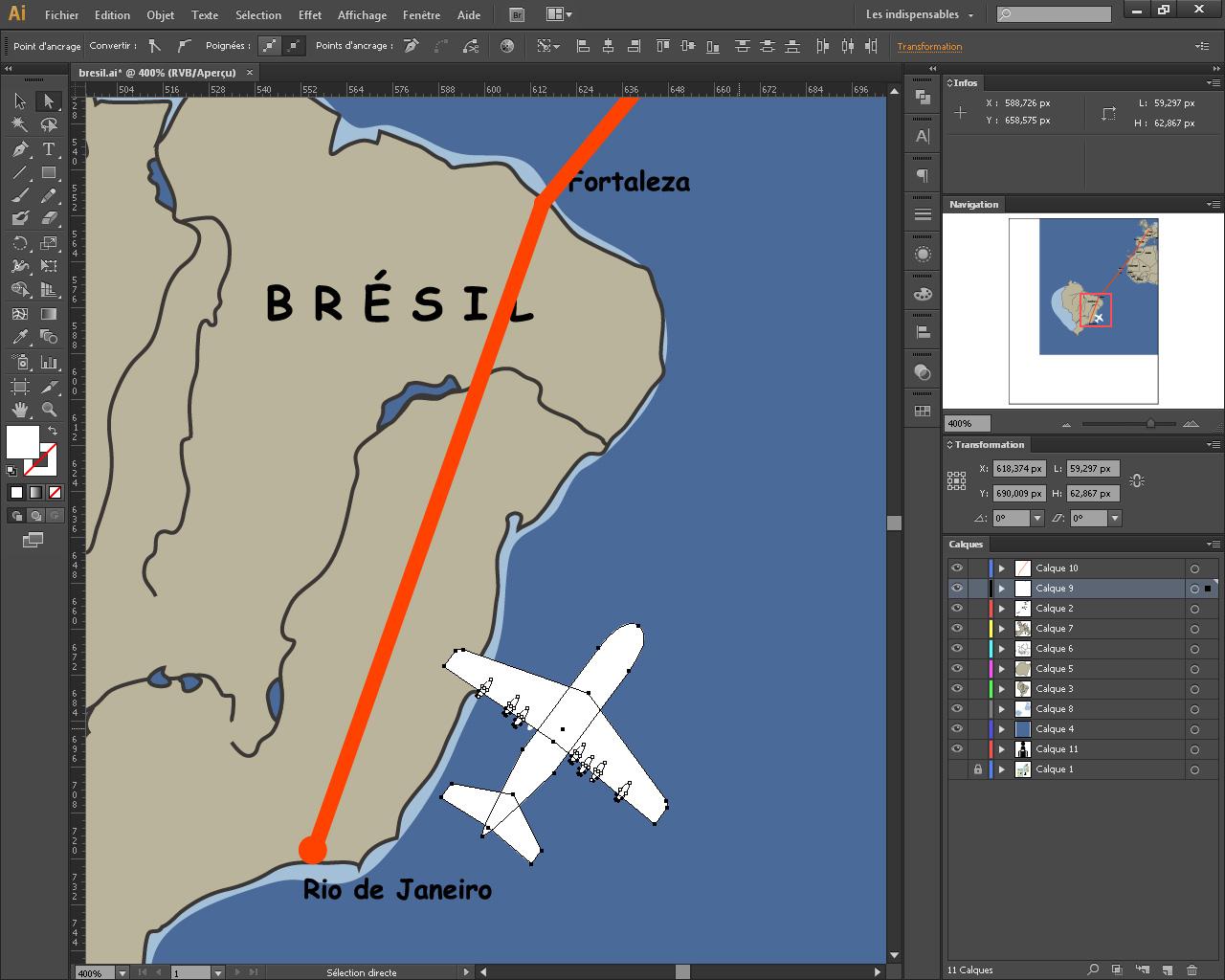 Création graphique de l'animation.