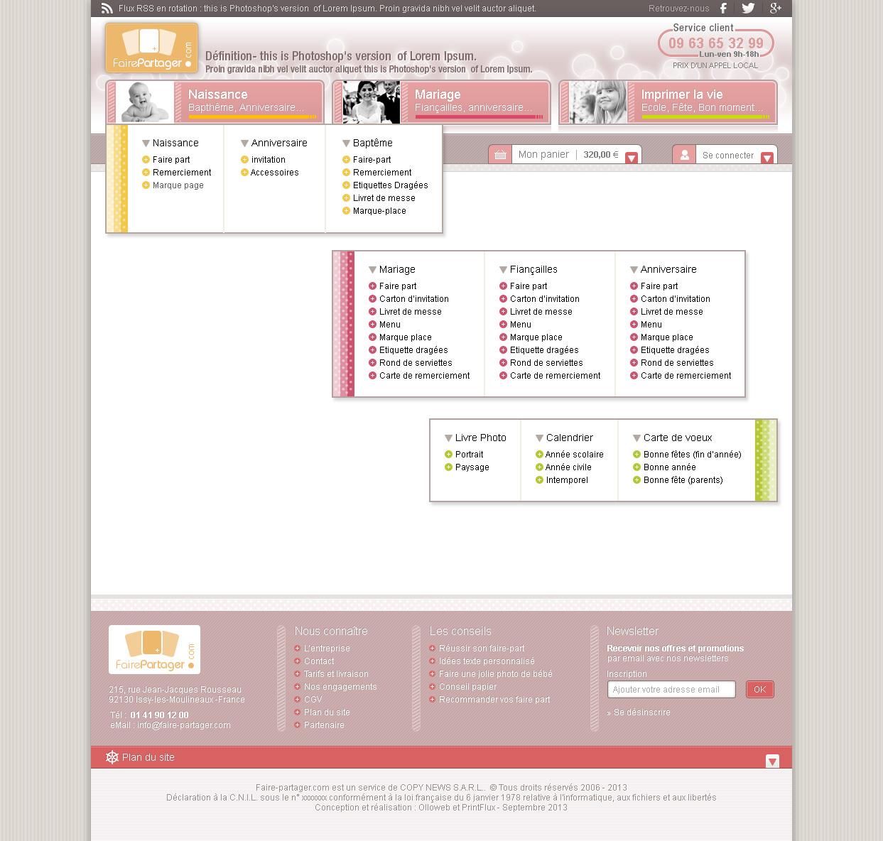 Détail graphique des menus