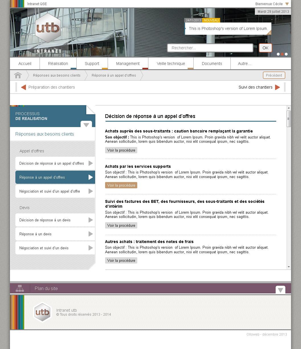 Création graphique de site internet de document