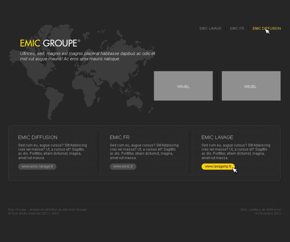 Création graphique du site Emic Groupe