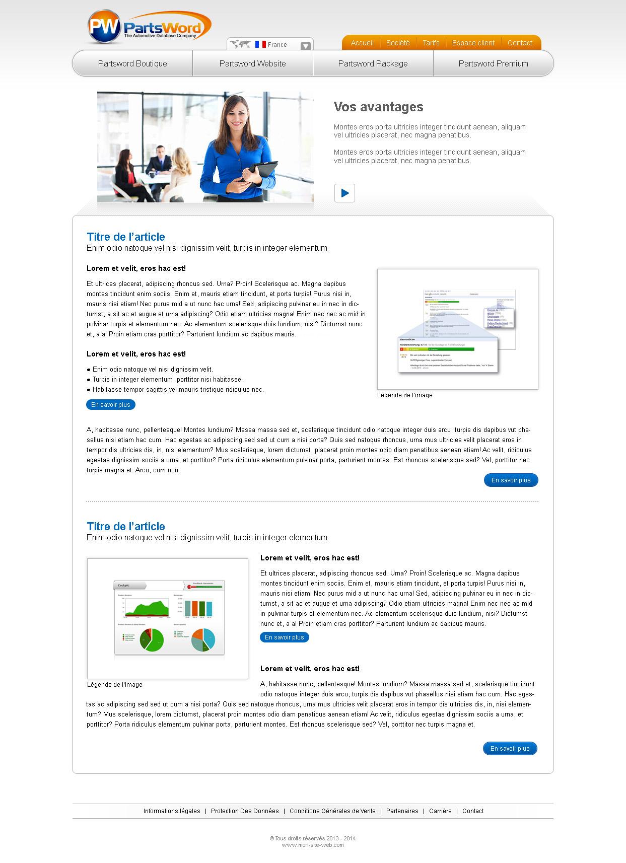 Création graphique page web