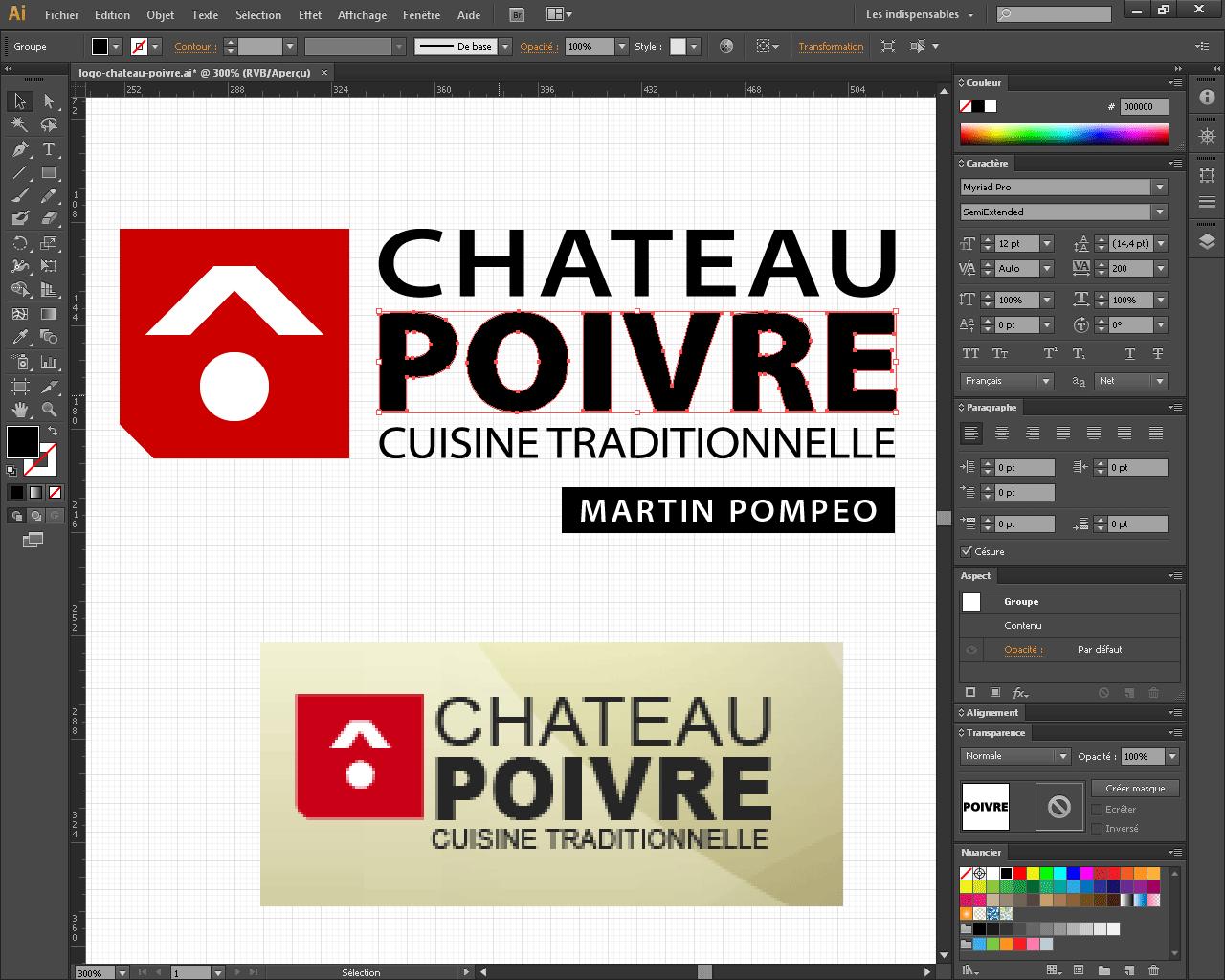 Lifting du logo de restaurant Le Chateau Poivre