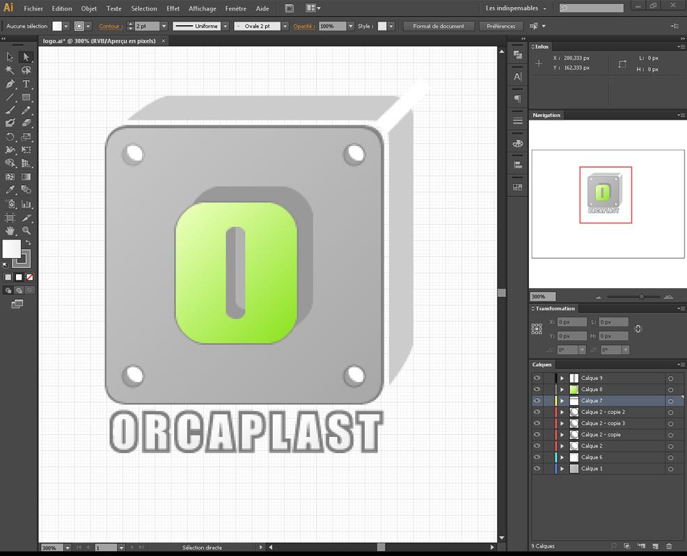 Création du logo Orcaplast