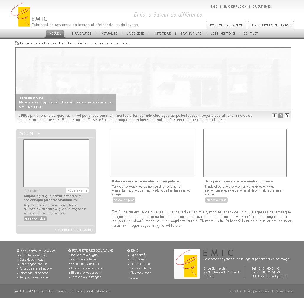 Création de maquette de site de catalogue