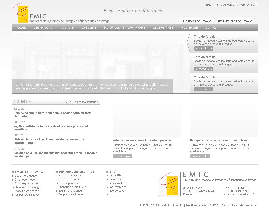 Création de maquette de site internet