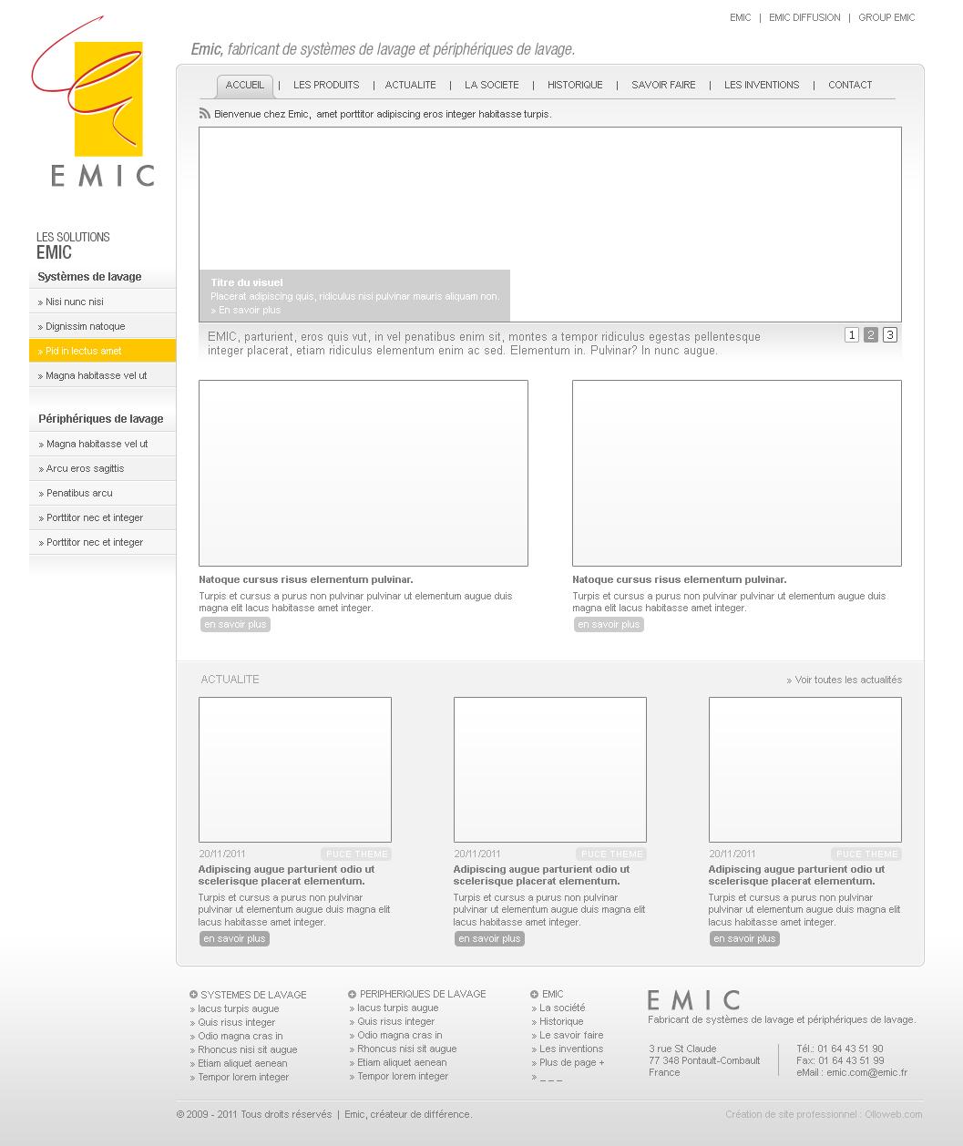Création de maquette de site internet de catalogue