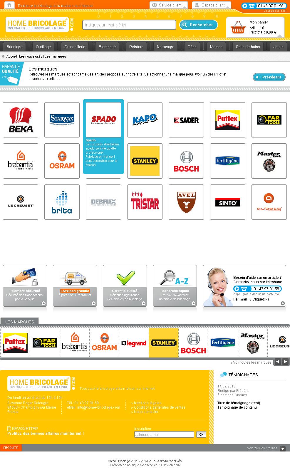 Cration d 39 un site e commerce de vente d 39 article de bricolage crati - Site vente privee bricolage ...