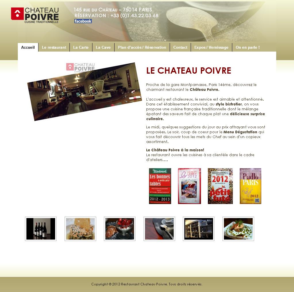 Page d'accueil du site avant la refonte
