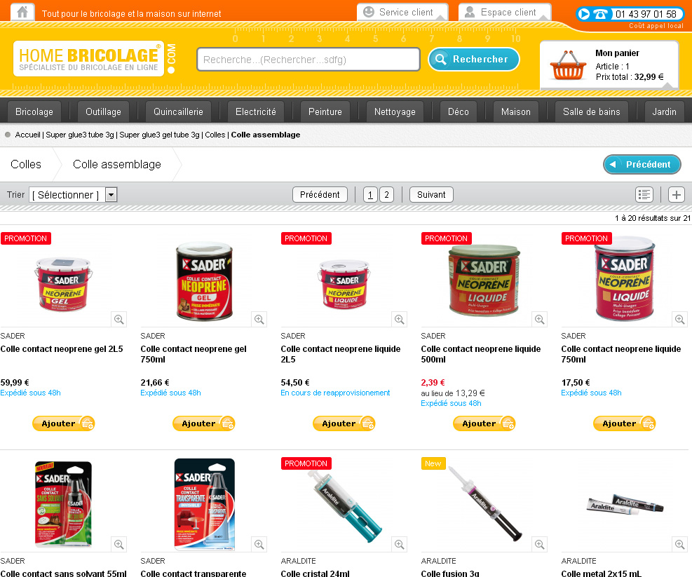 Cr ation d 39 un site e commerce de vente d 39 article de bricolage - Site vente privee bricolage ...