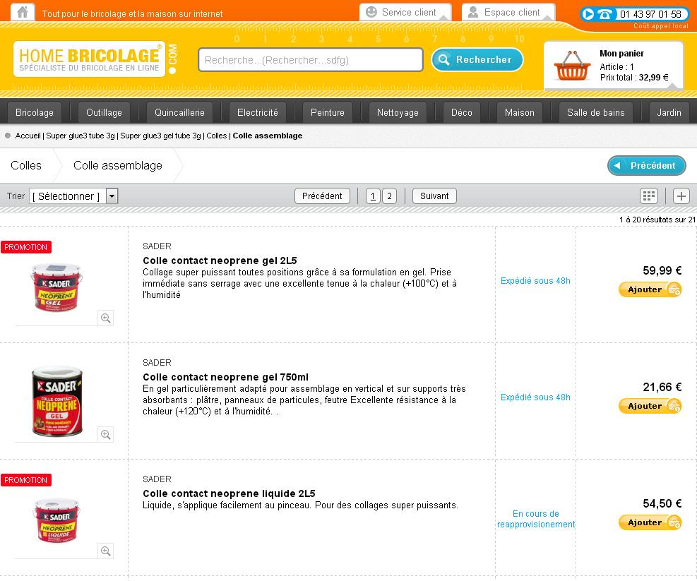 Cr ation d 39 un site e commerce de vente d 39 article de bricolage - Site vente bricolage ...