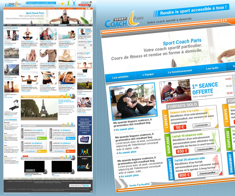 Création de site internet de coach sportif