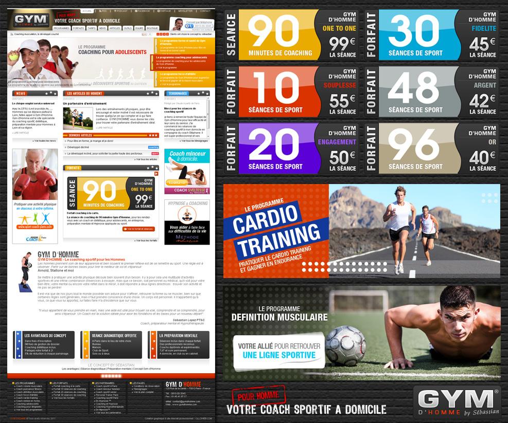 Création du site internet de coach sportif à domicile pour homme.
