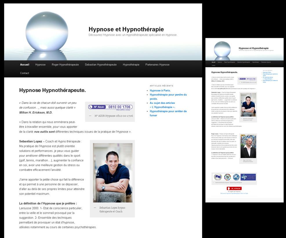 Création d'un mini site internet