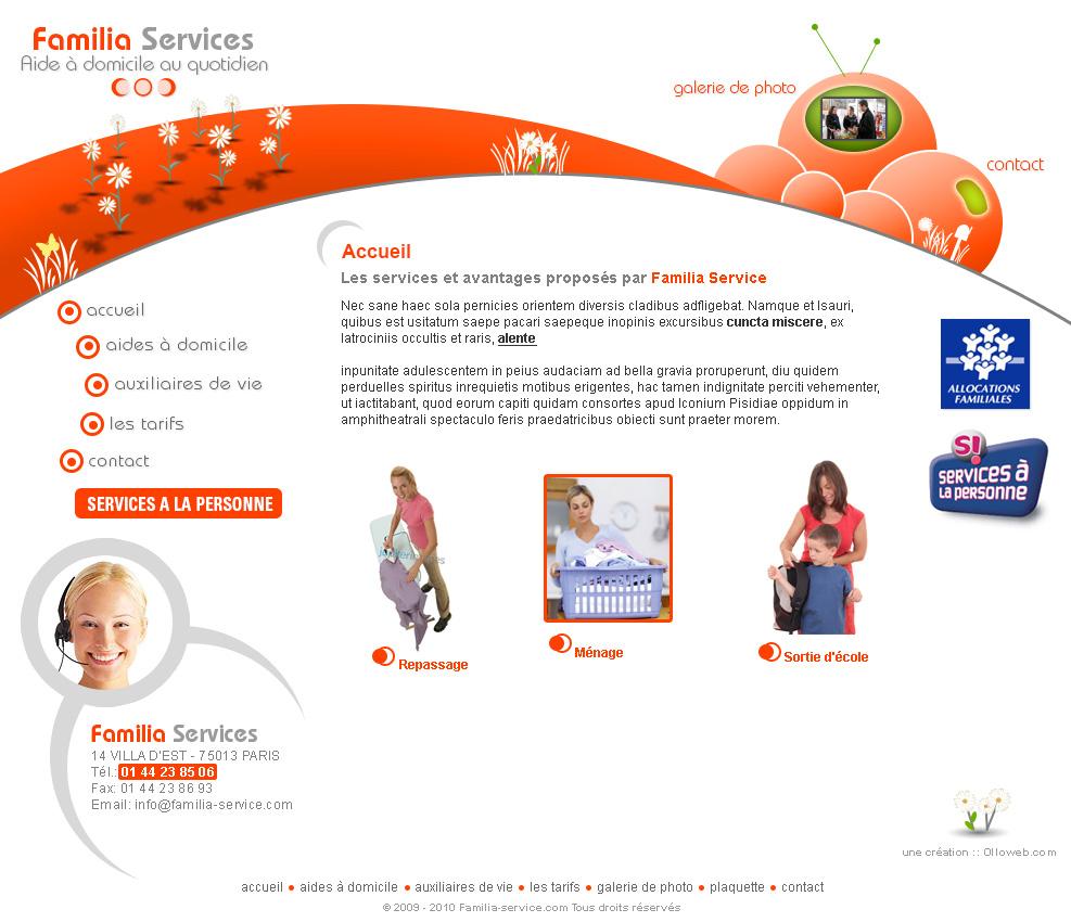Création du graphisme du site de service à la personne