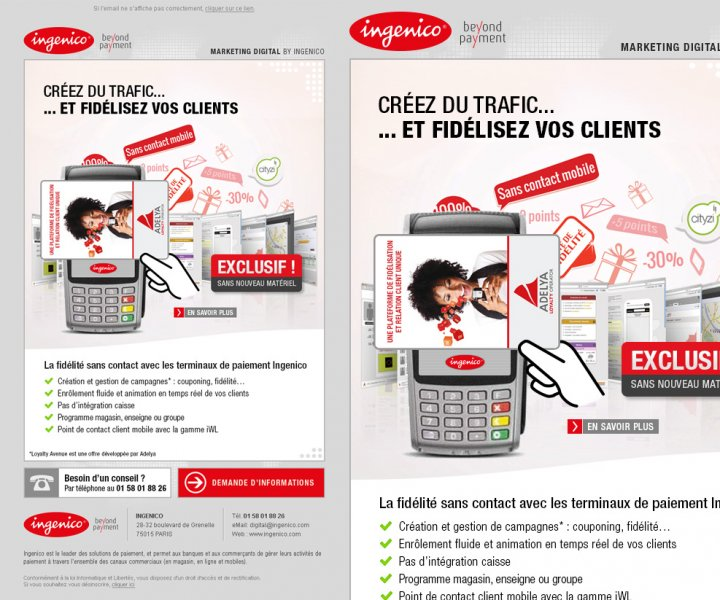 Création d'un emailing pro sur les offres Ingenico