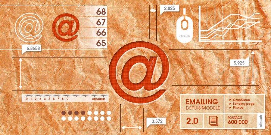 Création d'emailing depuis modèle