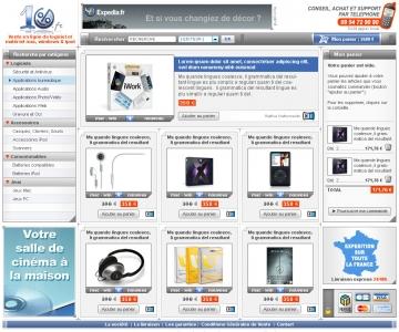 Création d'une interface graphique de site e-commerce.