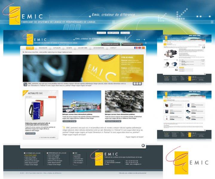 Conception d'interface graphique du site Emic
