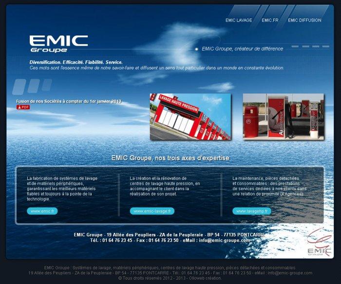 Création d'un mini site internet pour le Groupe Emic.