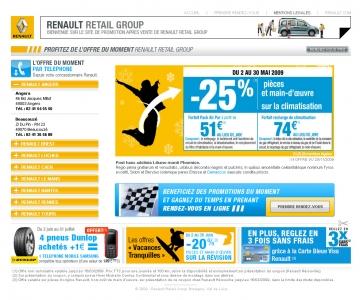 Création d'un mini-site internet pour les emailing Renault
