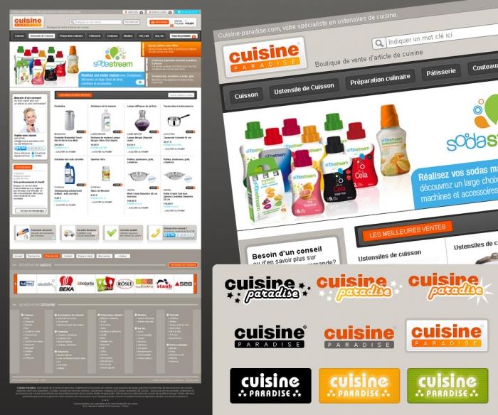Création de site e-commerce d'article de cuisine.