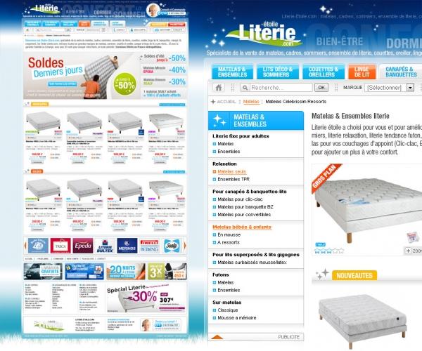 Création d'un site e-commerce de literie