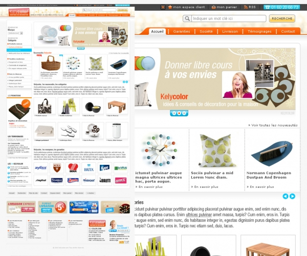Création d'un site e-commerce pour la maison