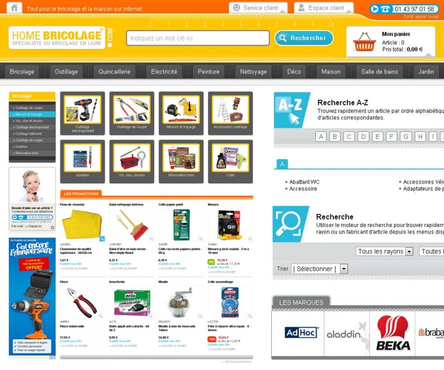 Cration d 39 un site e commerce de vente d 39 article de - Site vente bricolage ...