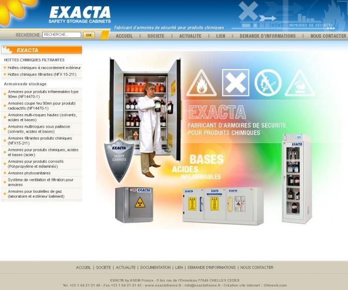 Création de site internet pour l'entreprise Exacta France